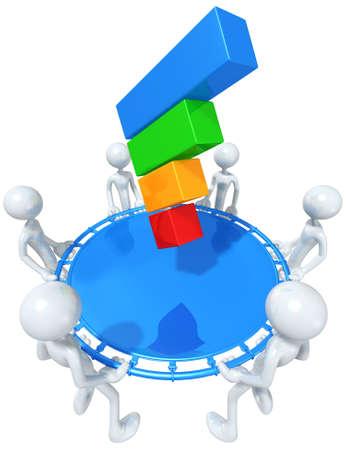 net bar: Safety Net Catching A Bar Graph