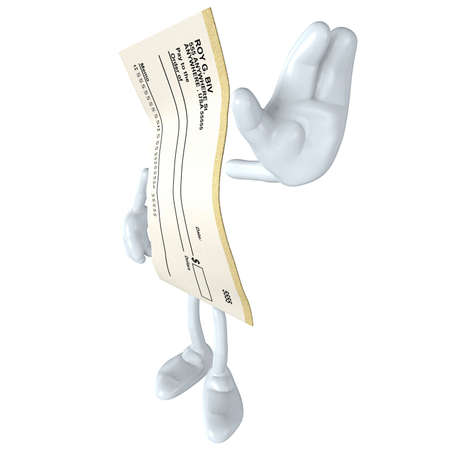 Blank Check Stock Photo - 4909131