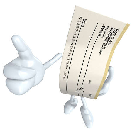 Blank Check Stock Photo - 4909751