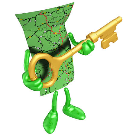 Carte en or clés Banque d'images - 4930655