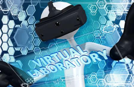 Virtual Reality VR 3D Illustration Banque d'images