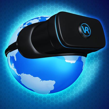 Virtual Reality VR 3D Illustration Stock Photo