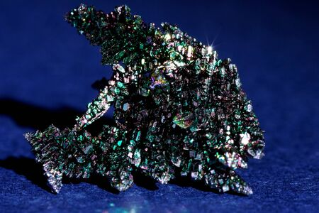 Vanadium crystals, Colorful crystals, the play of light on metal crystals Imagens - 127537246