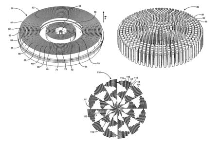 The scheme of propagation of the magnetic field. scheme and notation. Imagens