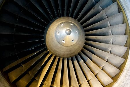 Turbine aircraft engine with a nickel alloy. Imagens