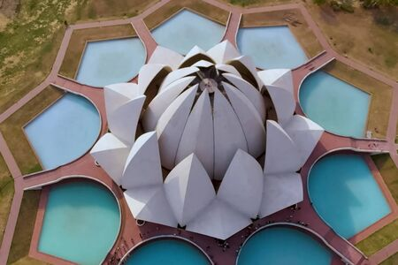 Lotus Temple - the main temple of the Bahai religion in India