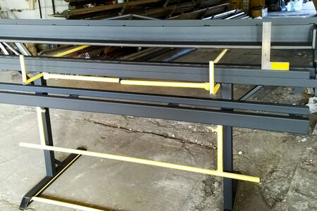 Machine for bending steel sheets. Plate bending machine
