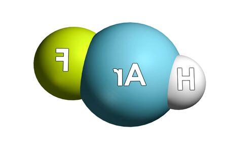 Noble gas compound molecule, a Argon compound