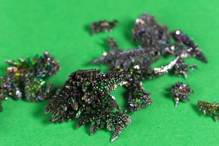 Vanadium crystals, Colorful crystals, the play of light on metal crystals