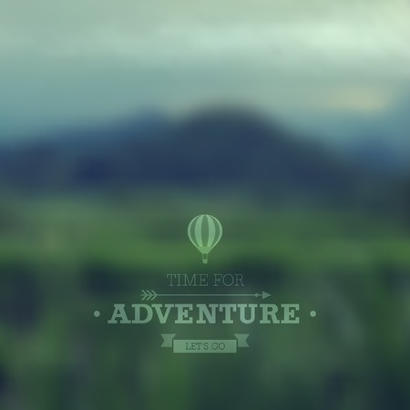 Vector poster  Travel theme