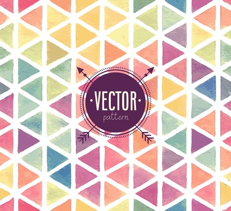 geometric shapes: Vector Watercolor seamless pattern.