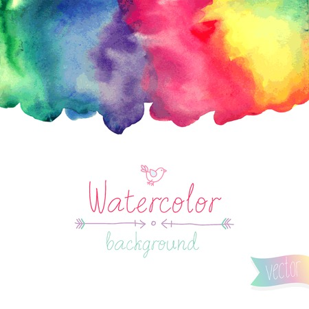 Vector Watercolor background. Illustration