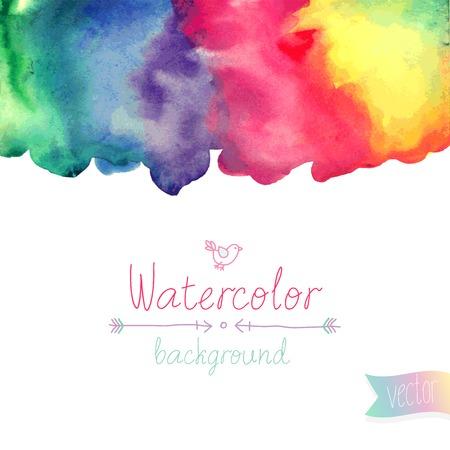 Vector Watercolor background. Иллюстрация