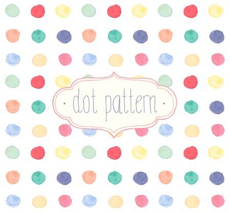 벡터 수채화 원활한 도트 패턴.