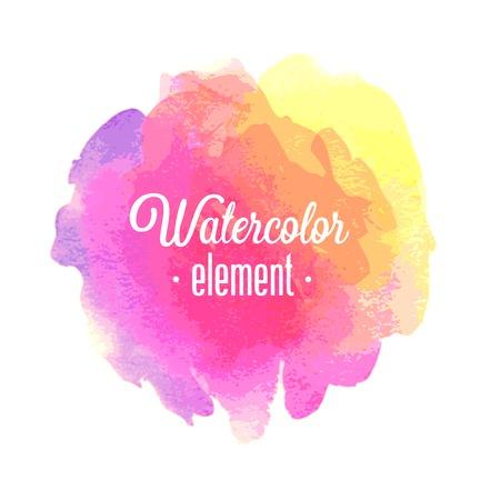 Vector Watercolor design element.