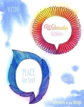 Vector Watercolor bubbles. Illustration