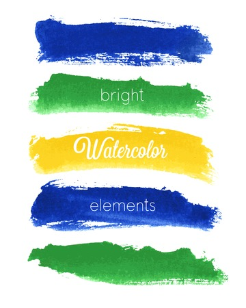 Vector watercolor design elements - Brazil style.