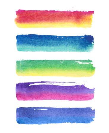 Vector paint stripes. Vector illustration. Иллюстрация