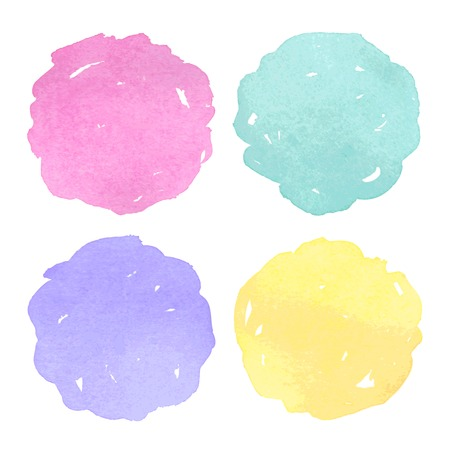 colorful paint: Vector Watercolor design elements. Vector illustration.