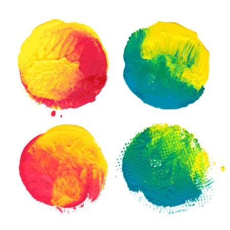 Vector paint circles. Иллюстрация