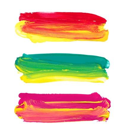 Vector paint stripes. Vector illustration. Illustration