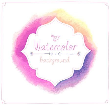 Vector Watercolor frame.
