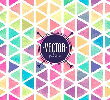 Vector colorful seamless pattern.Watercolor hand drawn style.