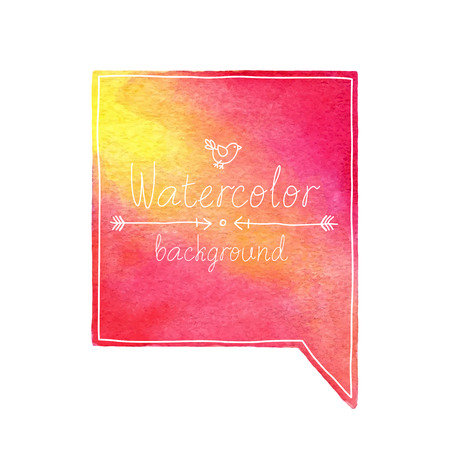 Vector Watercolor bubble with place for text. Illustration