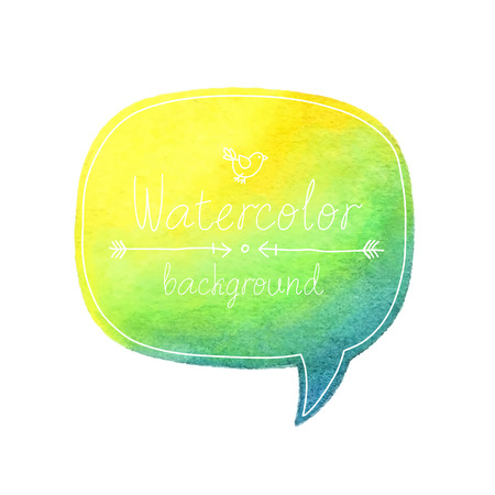 Vector Watercolor bubble with place for text. Иллюстрация
