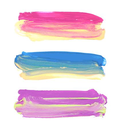 텍스트에 대 한 장소 벡터 페인트 줄무늬.