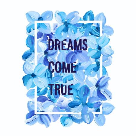 꿈은 실현 - 동기 부여 포스터.