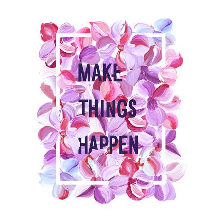 Make Things Happen motivation poster.