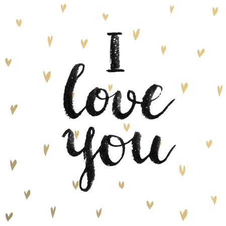 Valentine`s Day Calligraphic Set. Vector illustration. Illustration