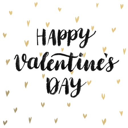 Valentine`s Day Calligraphic Set. Vector illustration. Иллюстрация