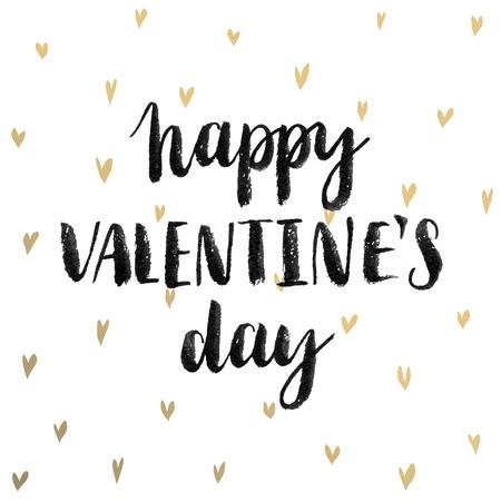 Valentine`s Day Calligraphic Set. Vector illustration.  イラスト・ベクター素材