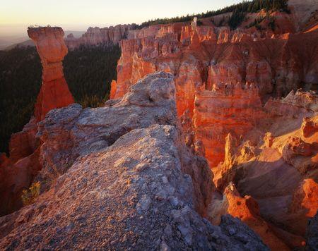 Bryce Canyon National Park Towers at Sunrise, Utah.