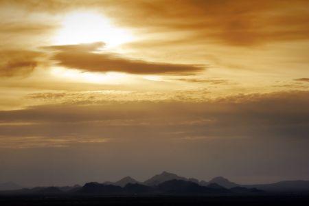 Arizona Desert Sunset Zdjęcie Seryjne