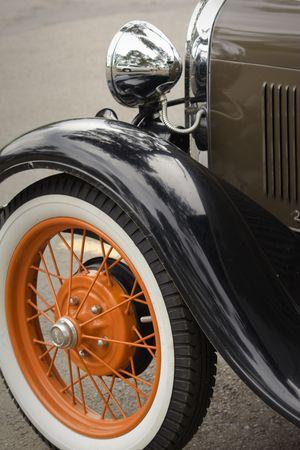 Classic car restoration detail. Themes: restoration, collecting, cars, vintage. Zdjęcie Seryjne