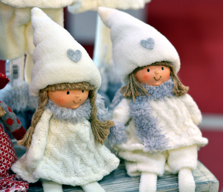 Christmas dwarf dolls with white cap