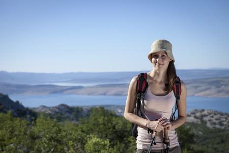 Croatia, Paklenica, Female hiker, portrait LANG_EVOIMAGES