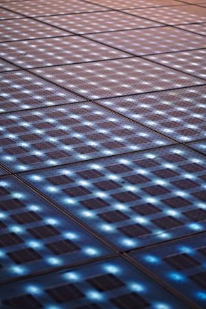 night club series: Croatia, Dalmatia, Solar panels as a dance floor, full frame