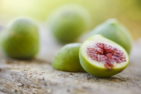 food: Fresh Figs On Wooden Surface, Island Hvar, Croatia, Europe