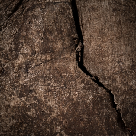 Deep crack on a wooden board in close-up. Stock Photo - 19098967