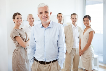 mixed race people: Successful business team in their modern office.
