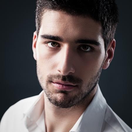 macho man: Portrait of a handsome Caucasian man.