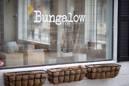 April 17 2019 Windsor Ontario Canada Trendy Maiden Lane Storefront Bungalow Editorial