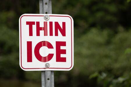 Symbols Signs Warnings Yield Rectangular Thin Ice Danger