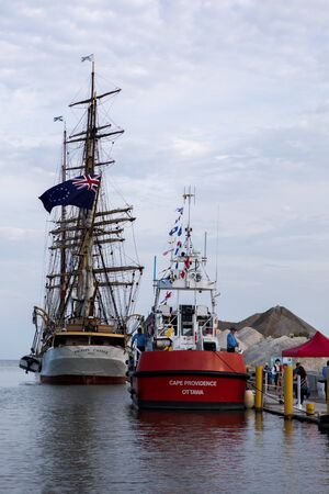 17 Aug 2019 Kingsville Ontario Vessels Participate in Vintage Tall Ships Festival in Kingsville, Ontario
