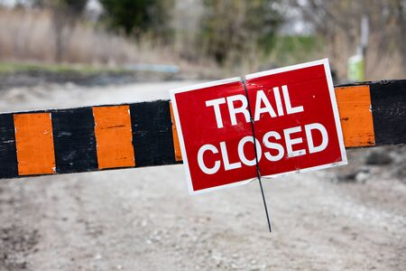 Trail Closed Warning Sign Keep Out of Park