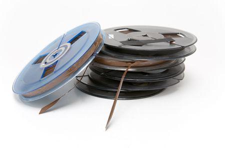 cintas: Peque�os rollos de cinta de audio profesional